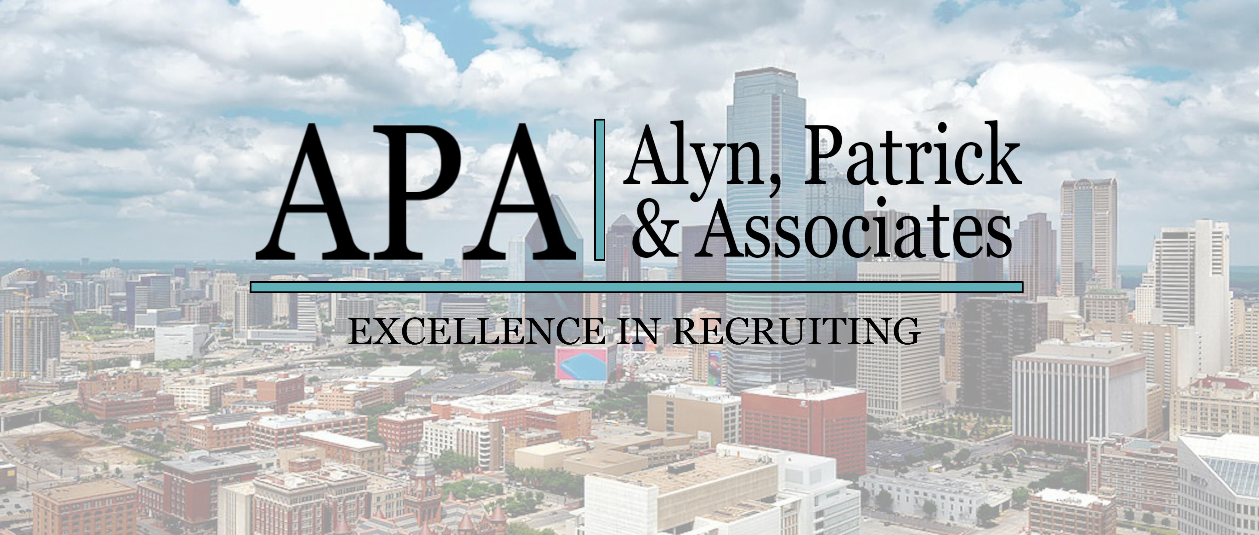 Fort Worth Skyline with APA Logo